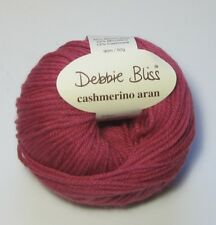 LOT of 10 ROSE Debbie Bliss CASHMERINO ARAN merino wool cashmere yarn #300602