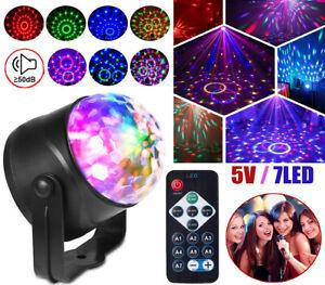 Calming Autism Sensory LED Light Rotating Crystal Ball Special Needs Kids Gift
