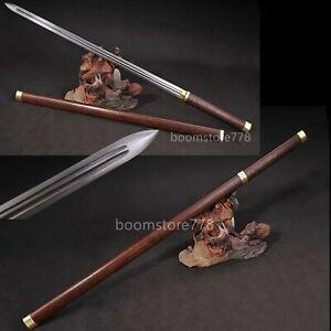 HANDMADE CHINESE JIAN SWORD 8196 LAYERS DAMASCUS BLADE ROSEWOOD SACABBARD