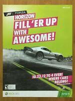 Forza Horizon Xbox 360 2012 Print Ad/Poster Official Racing Game Promo Art