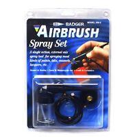 BADGER AIRBRUSH BASIC SPRAY GUN STARTER KIT 250-2 SINGLE ACTION EXTERNAL MIX