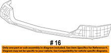 FORD OEM 05-07 F-250 Super Duty Bumper Face-Foam Impact Absorber Bar 6C3Z17C882A