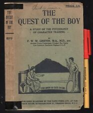 1927 1st Ed, 2nd Printing BOY SCOUTS The QUEST For the BOY F Griffin PSYCHOLOGY