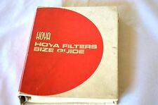"""Unique Vintage Hoya """"Filters Size Guide"""" for Film Cameras and Lenses 222 Pages"""