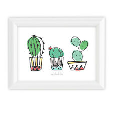 Can't Touch This 5x7 Wall Art Print Funny Nature Cactus Plant for Home or Dorm