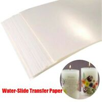 20 pcs Waterslide Decal Paper Inkjet Printer A4 Water Slide Transfer Printable`