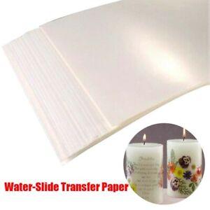 20 pcs Waterslide Decal Paper Inkjet Printable Printer  A4 Water Slide Transfer