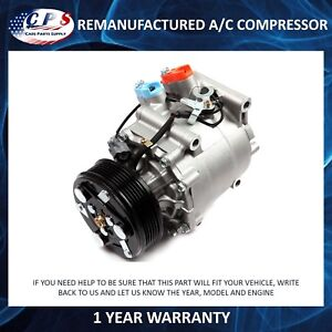 A/C Compressor Fits Honda Civic 2001-2002 Honda Prelude OEM TRSA090 77599