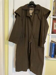 Sidney Clothing Co. Oilskin Drover / Cowboy Duster (Medium)