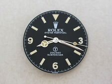 ~ Vintage Rolex #5517 Military Sub Matte Black Repaired Dial + Hand-Set ~