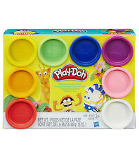 NEW HASBRO PLAY-DOH RAINBOW STARTER PACK 8 CANS A7923
