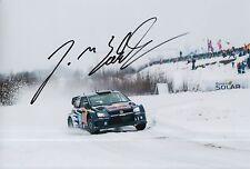 Jari-Matti Latvala Hand Signed Volkswagen 12x8 Photo Rally 2.