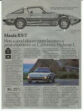1982 Mazda RX-7 Silver Sports Car Color Photo Vintage Print Ad