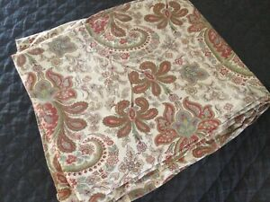 Pottery Barn Charlie Paisley Red 100% Organic Cotton Duvet Cover ~ KING ~ EXC!