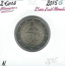 2 Euros - ALLEMAGNE - 2015 - Lettre: G // Qualité: Neuve (25 ans réunification)