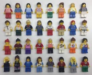 5 LEGO GIRL WOMAN MINIFIGS LOT random bulk city town female figures