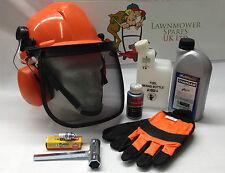 Motosierra Starter Kit De Casco, Guantes, aceites, mezclando Botella Ideal Para Stihl usuario