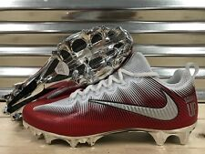 Nike Vapor Untouchable Pro iD Football Cleats White Red Chrome SZ 11.5 (872065)