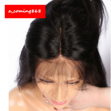 Black Hair Wigs For Women Long Straight Lace Front Full Wig With Baby Hair 26""