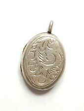 Vintage Birmingham 1979 Sterling Silver EJC OVAL PHOTO PICTURE LOCKET 4.4g