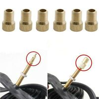 6 X Brass Bicycle Bike Presta to Schrader Adapter Valve Converter Pump Connector