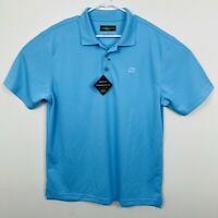 NWT LoudMouth Golf Essential Polo Shirt Relaxed Fit Mens Size Large Powder Blue