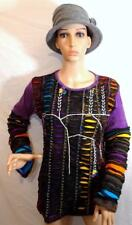 FAIR TRADE GRINGO ETHNIC HIPPY FESTIVAL PATCHWORK DESIGN LONG SLEEVE TOP M/L