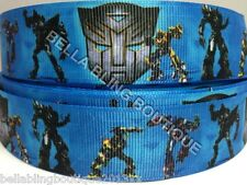 1 METRE BOYS SUPER HERO MARVEL AVENGERS TRANSFORMERS GROSGRAIN RIBBON 25MM 1""