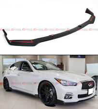 FRONT BUMPER CHIN LIP SPOILER SPLITTER FOR 2014-2016 INFINITI Q50 BASE PREMIUM