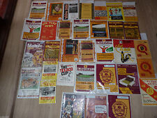 Montrose Home Teams L-N Football Scottish Fixture Programmes