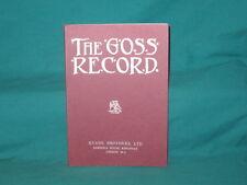 Il record GOSS modificato da J J Jarvis