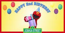 Personalized Sesame Street Elmo Theme Big Birthday Party Vinyl Banner Sign Decor