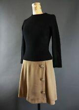 VTG 1960s 60s Mod Zipper Detail Drop Waist Colorblock Scooter  Dress S