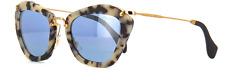 Miu Miu SMU10N sand havana/blue silver mirror (HAO-4N0) Sunglasses