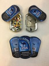 Lot Of 13 Camel Snus Tin Cans Crafts Storage Survival Backpacking Scrapbooking