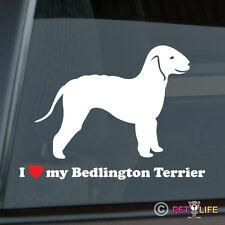 I Love My Bedlington Terrier Sticker Die Cut Vinyl - rothbury