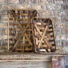Long Tobacco Basket Set of 2 Baskets
