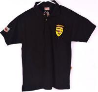 Rare Monaco Grand Prix Mens Polo Shirt Top Short Sleeve Size Small S Black Tee