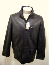Daniel Cremieux Men's Genuine Leather Reversible Wax Jacket Coat Button Black M
