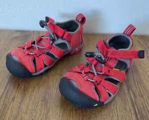NEW Keen Seacamp II CNX Red Toddler Boys Water Shoes Sandal 10 27/28 Hook & Loop