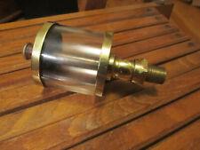 "Antique Hit Miss Engine Oiler 2.5"" diameter glass / 5 1/4"" height No Check Ball"