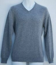 CLUB ROOM Estate 2-Ply Cashmere Gray Htr Men's V-Neck Sweater XXL $195 NWT
