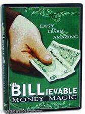 unBILLievable Money Magic DVD - Easy to Learn Amazing Tricks -11 CloseUp Effects
