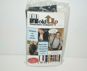 HoldUp Hold Up Suspender Co Black Y Back No Slip Nickel Clips Suspenders New NIP