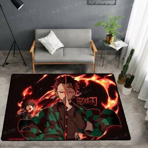 Demon Slayer Anime Carpet Children Room Mat Bedroom Floor Rug Cartoon Doormat