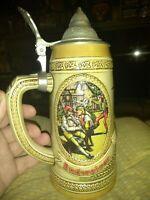 Budweiser Vintage Anheuser Busch Lidded Beer Stein Limited Edition N Series 1989