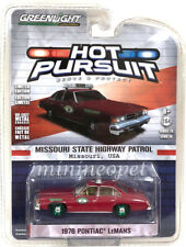 GREENLIGHT 42830 B 1976 PONTIAC LE MANS 1/64 MISSOURI STATE HIGHWAY POLICE Chase