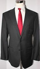 Brooks Brothers Fitzgerald Gray Striped 2 Button Wool Suit 44 R 40 28 Flat
