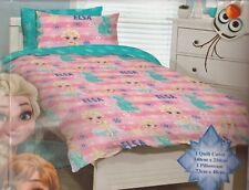 Girls Kids Disney FROZEN Elsa and Anna SINGLE Duvet/Doona/Quilt Cover SET BNIP