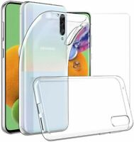 For Samsung Galaxy A90 5G Case Clear Slim Gel Cover & Glass Screen Protector